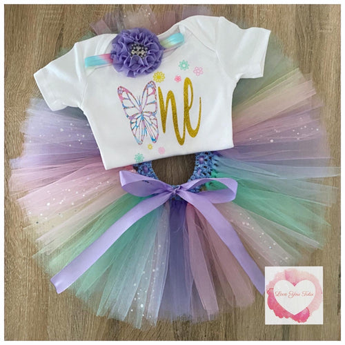 Butterfly one tutu set