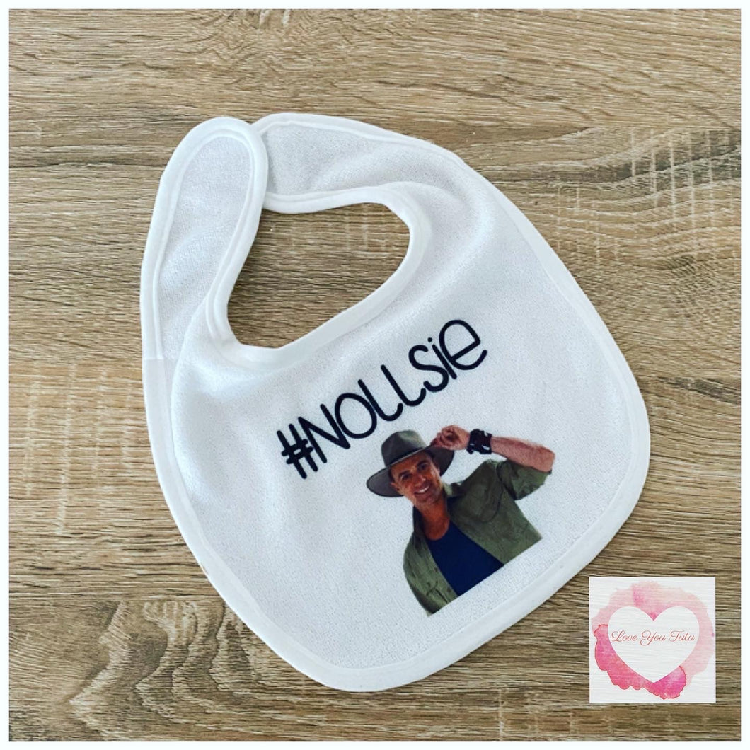 Personalised photo printed baby bib