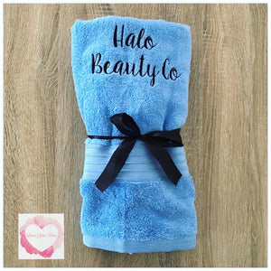 Embroidered personalised towel