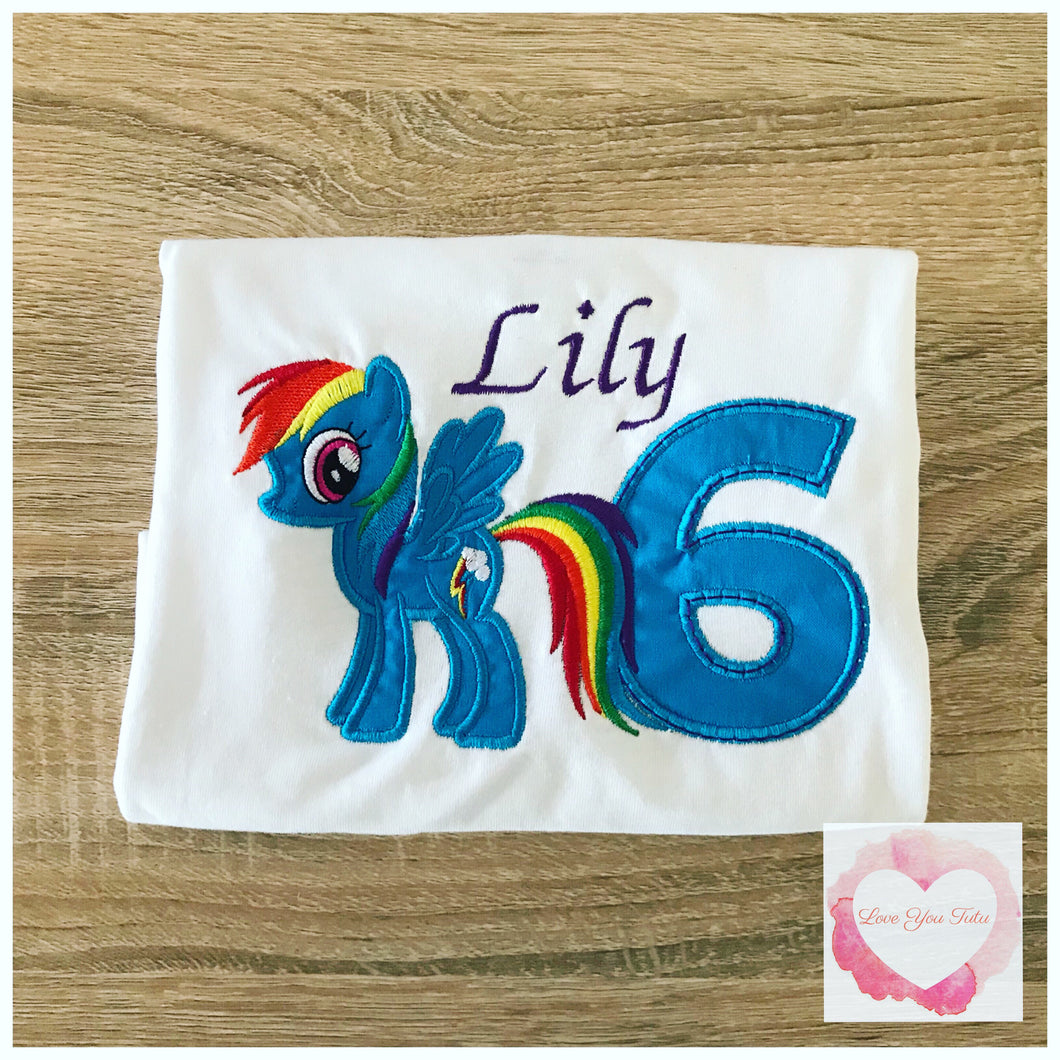 Embroidered My Little Pony Rainbow Dash design