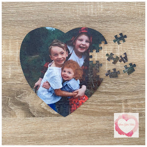 Personalised heart puzzle