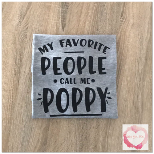 My favourite people call me Poppy design