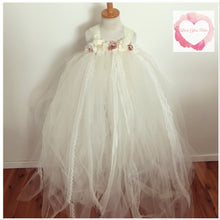 Load image into Gallery viewer, Full length tulle & lace tutu dress