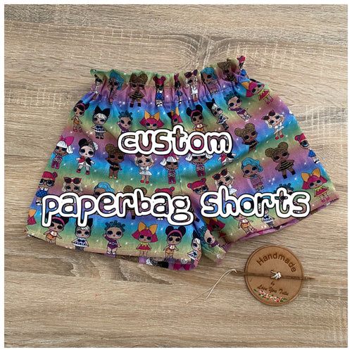 Custom paperbag shorts