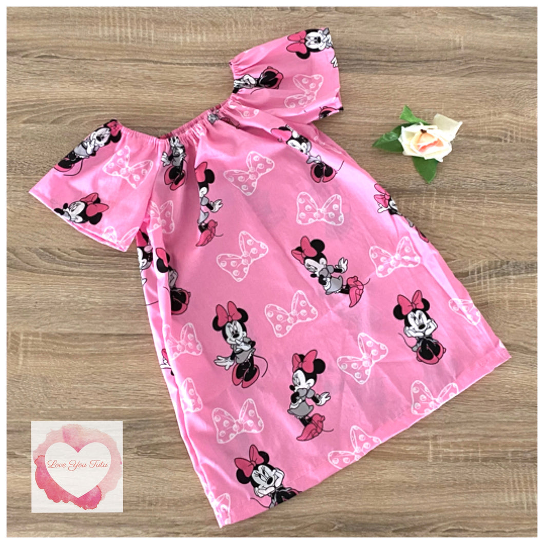 Minnie Mouse Peasant dress size 4- ready to ship