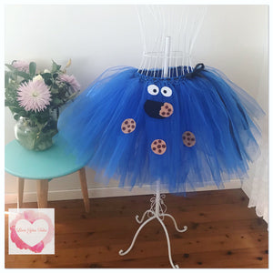 Cookie Monster 3/4 length Tutu skirt