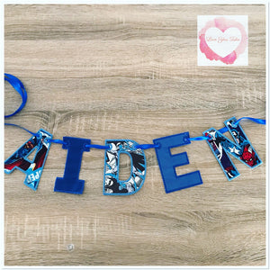 Embroidered Personalised bunting