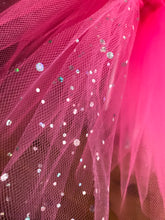 Load image into Gallery viewer, Shocking pink & sequin tulle short Tutu skirt