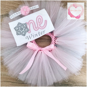 Embroidered Snowflake one tutu set