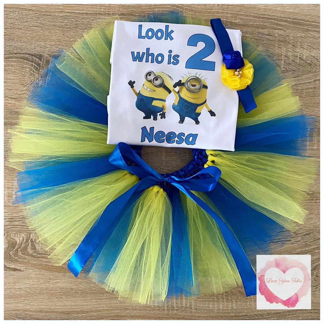 Minion personalised tutu set