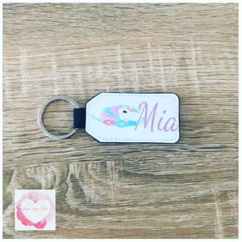 Personalised keyring/ bag tag