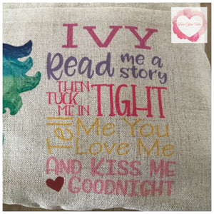 Personalised Reading pillows