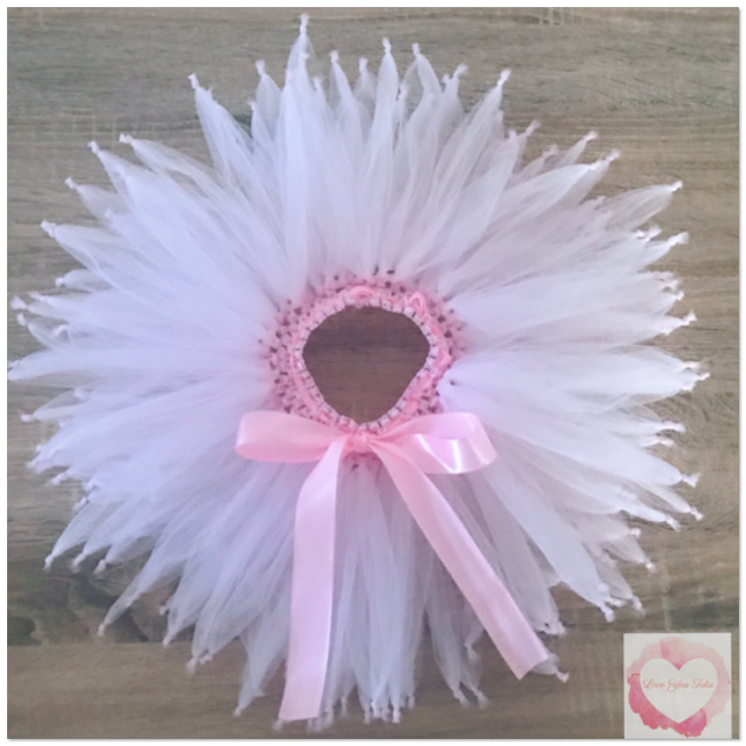 Baby pink knotted short tutu skirt