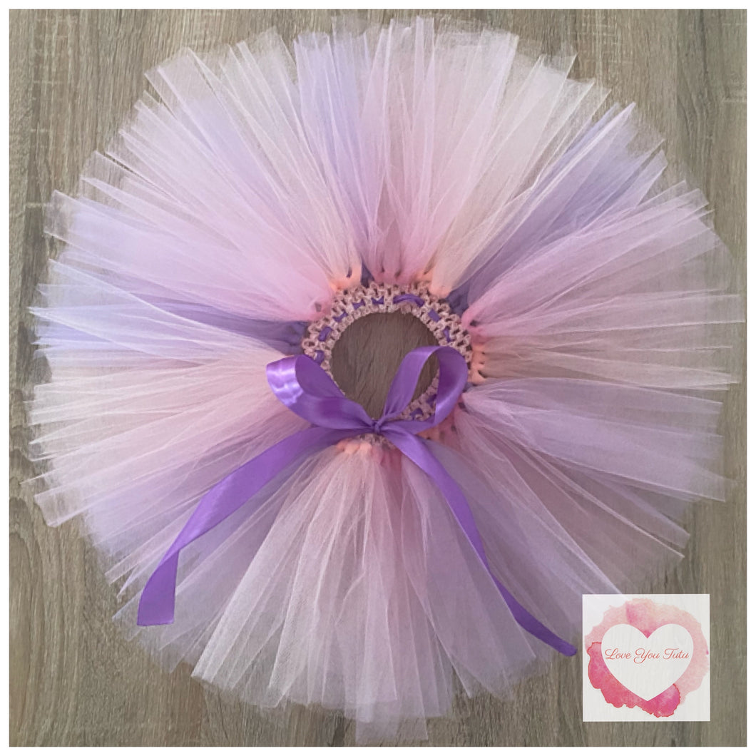 Pink, peach & lavender short Tutu skirt