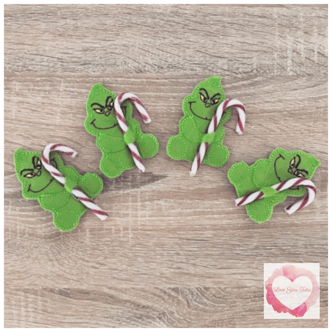 The Grinch candy cane holder