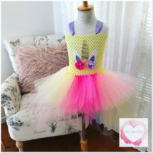Load image into Gallery viewer, Unicorn hi low tutu dress