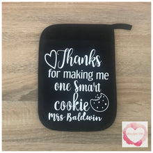 Load image into Gallery viewer, Smart cookie pot holder teachers gift