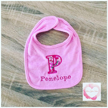 Load image into Gallery viewer, Monogrammed baby bib