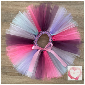 Plum, baby pink, shocking pink, lavender & Tiffany blue short Tutu skirt