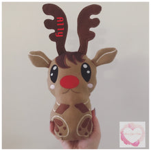 Load image into Gallery viewer, Personalised Reindeer stuffie