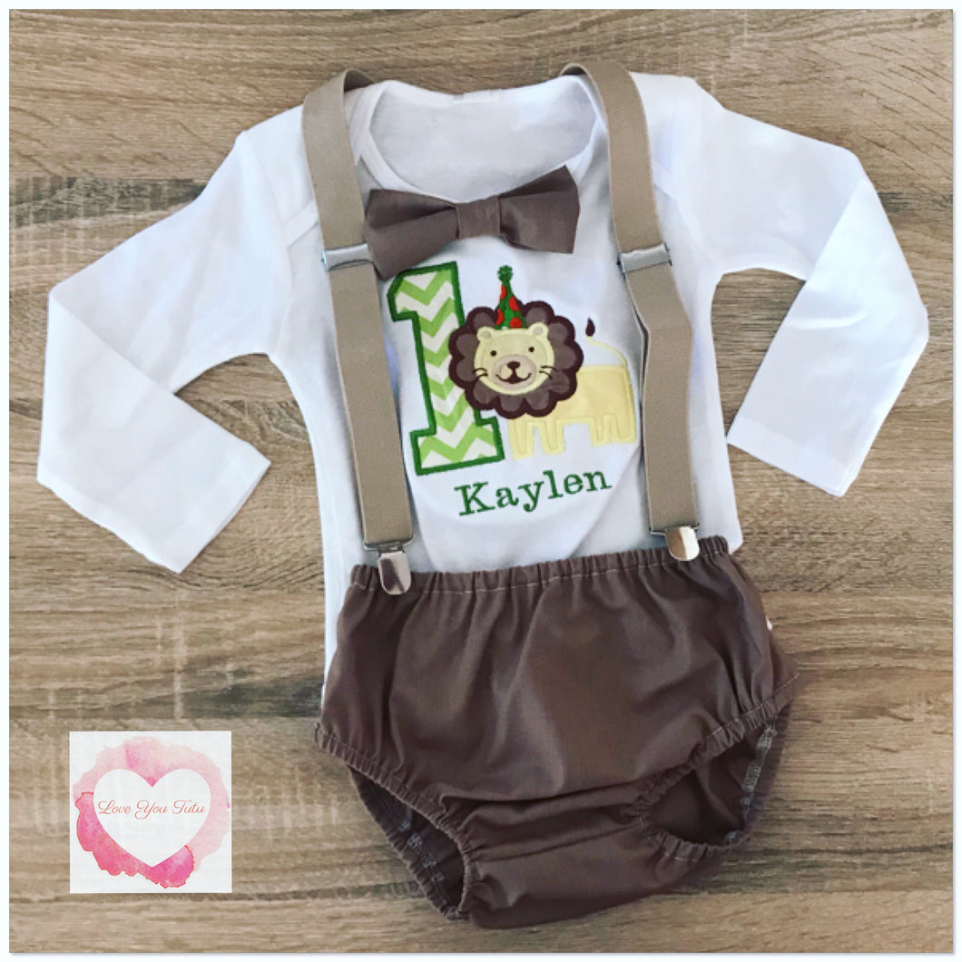 Boys 3 piece lion set