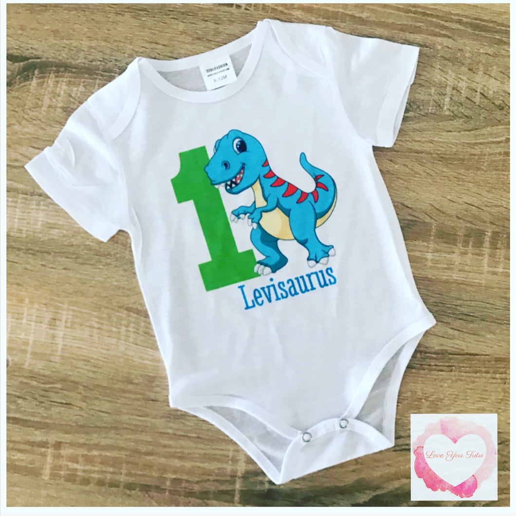 Blue dinosaur printed design