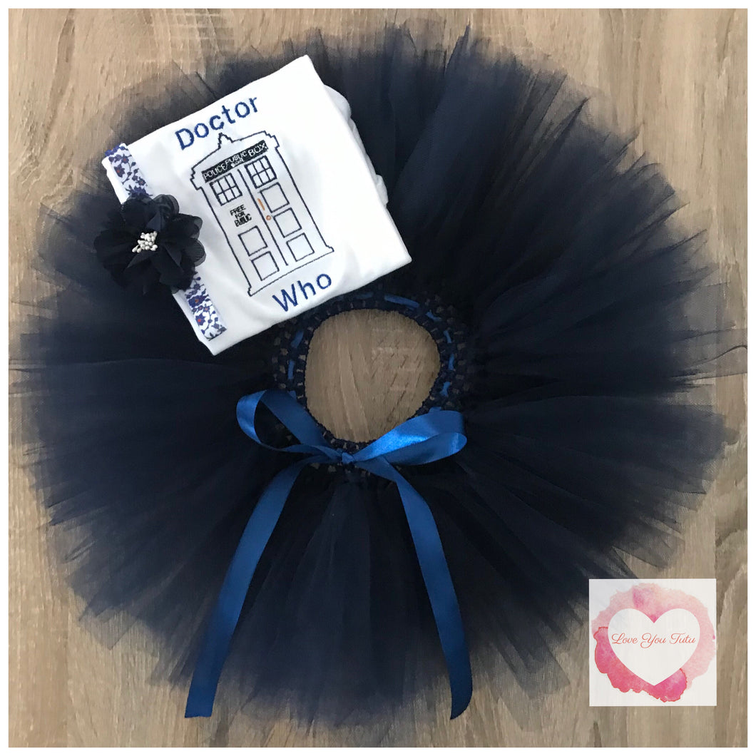 Embroidered Doctor Who tutu set