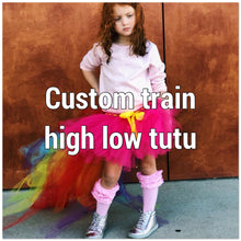 Load image into Gallery viewer, *Custom train high low Tutu skirt