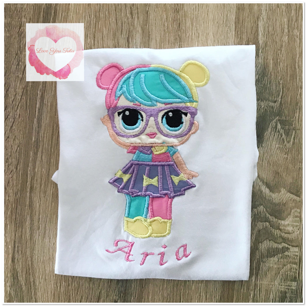 Embroidered Bon Bon lol doll design
