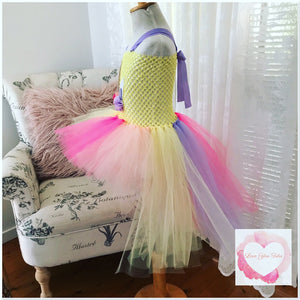 Unicorn hi low tutu dress