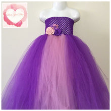 Load image into Gallery viewer, Purple and dusty pink Tutu dress