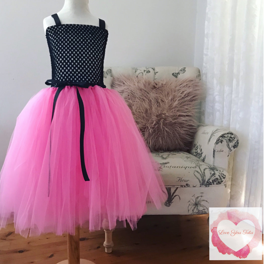 Black & shocking pink Tutu dress