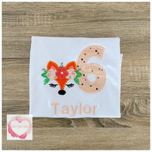 Load image into Gallery viewer, Embroidered Fox face design