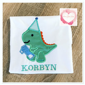 Embroidered Cute dinosaur design