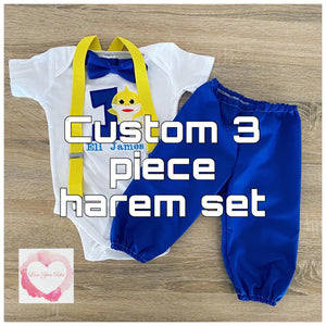*Custom Boys 3 piece harem set