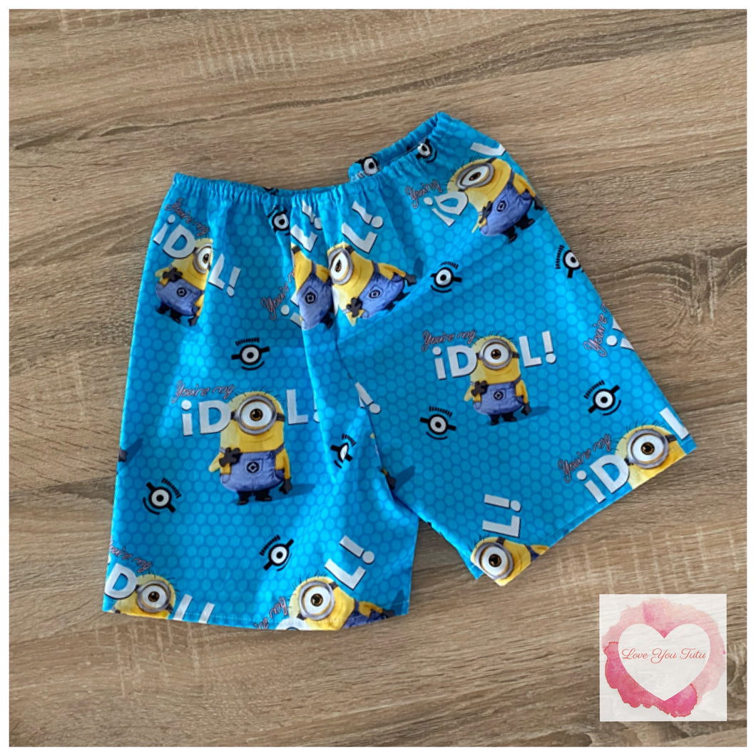 Minion shorts size 6- ready to ship