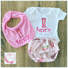 Load image into Gallery viewer, Monogrammed baby set
