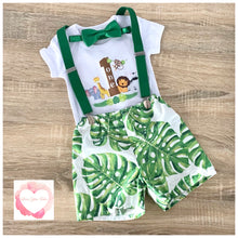Load image into Gallery viewer, Jungle 1st birthday set size 0 - ready to ship