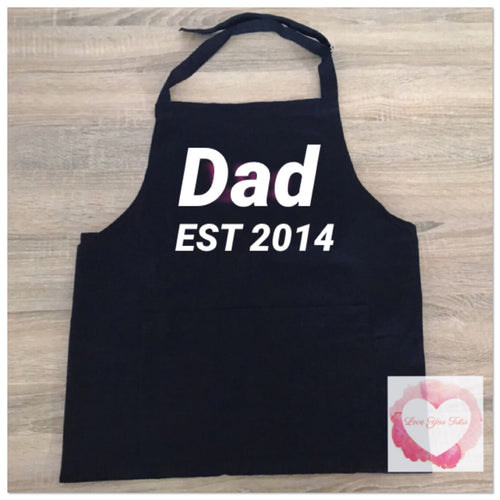 Personalised dad apron