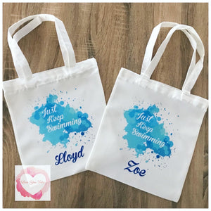 Personalised tote bags-various designs