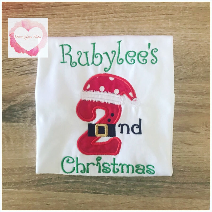Embroidered 2nd Christmas design