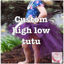 Load image into Gallery viewer, *Custom high low Tutu skirt