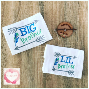 Embroidered big brother, bigger brother & little brother designs