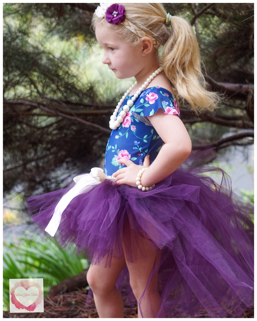 Plum high low Tutu skirt