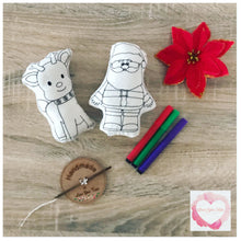 Load image into Gallery viewer, Colour it Christmas stuffies