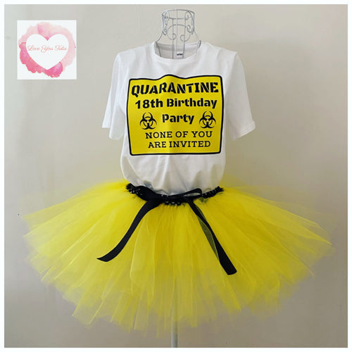 Adult Quarantined birthday tutu set