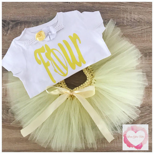 Bumble bee four personalised tutu set