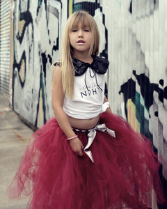 Burgundy 3/4 length Tutu skirt