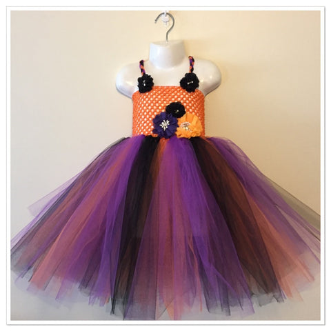 Halloween flower Tutu dress