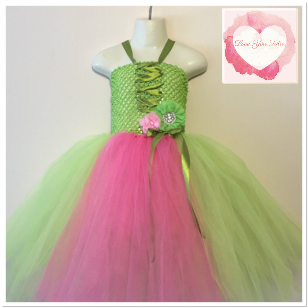 Shocking pink and apple green Tutu dress